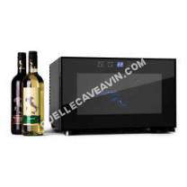 Cave de service Mini cave à vin de 25L pour 8 bouteilles avec éclairage intérieur LED - Classe B